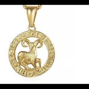 "Aries Zodiac Sign Gold Filled 18"" Chain Ne…"